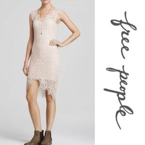 Free People intimately nude body on lace dress L